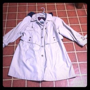 Lond Lined Tan Misty Harbor Coat with hood